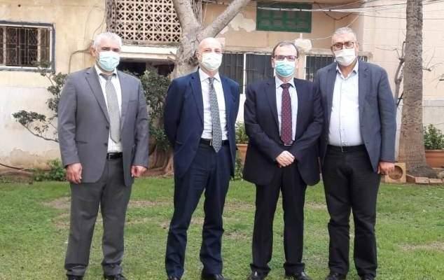 البزري ناقش مع كوردوني الوضع الصحي وسبل توفير اللقاحات للبنانيين والفلسطينيين