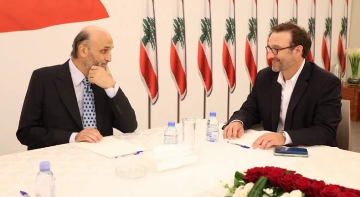 مصادر القوات للجمهورية: زيارة شينكر إلى جعجع جيدة وتم عرض التحديات التي تواجه لبنان