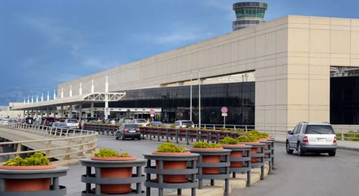 حركة المسافرين عبر مطار بيروت خلال شهر ايار بلغت 598602 راكبا