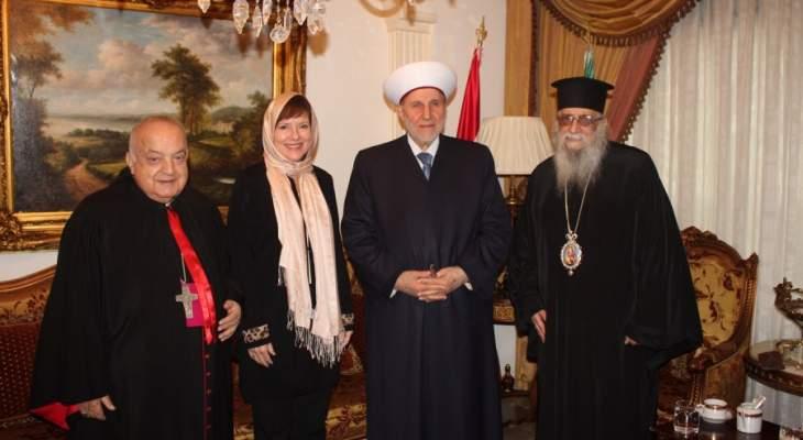 الشعار استقبل السفيرة الأميركية:  لبنان يحتاج إلى دعمكم ودعم الدول الكبرى