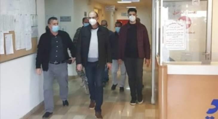 النشرة: وزير الصحة تفقد قسم كورونا في مستشفى حاصبيا