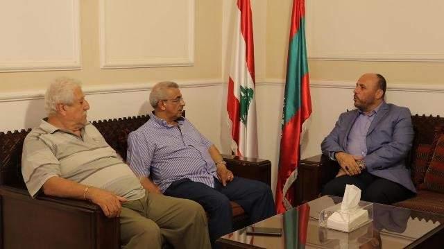 أسامة سعد بحث مع وفد من قيادة حركة حماس الأوضاع في الأرض المحتلة