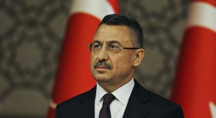 نائب الرئيس التركي من بعبدا: تركيا مستعدة لإعادة بناء مرفأ بيروت من جديد