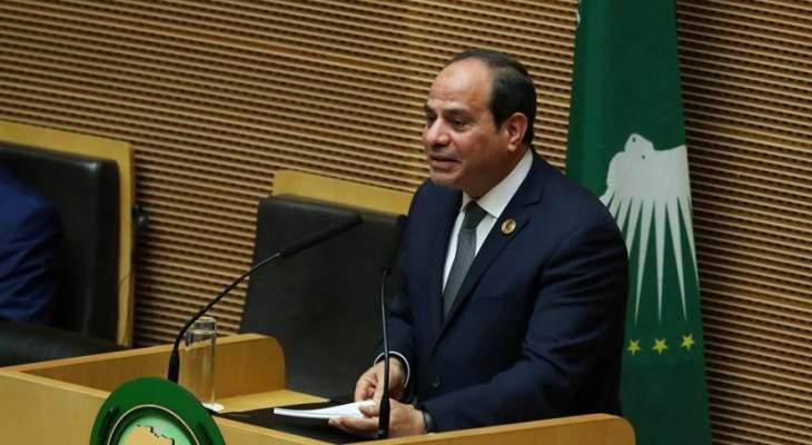 السيسي: مياه مصر خط أحمر ولن يستطيع أحد أخذ نقطة مياه واحدة