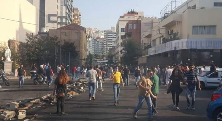 تجدد الاشكال في جل الديب بين المتظاهرين وتدخّل قوى الأمن