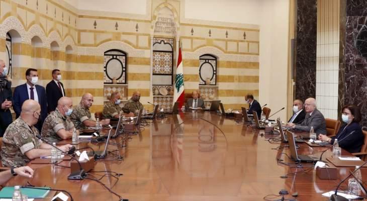 الرئيس عون التقى قائد الجيش وضباطا معنيين للاستماع إلى عرض مفصل عن الوضع الراهن ضمن المرفأ