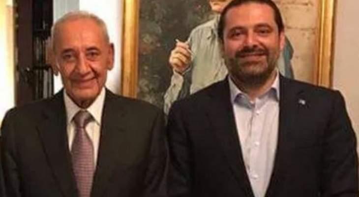 """""""NBN"""": اجتماع يُعقد في هذه الأثناء بين بري والحريري"""