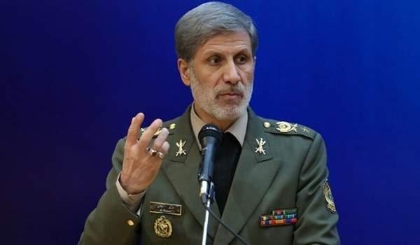 وزير الدفاع الايراني: نتمتع بأمن دائم رغم الحظر الجائر