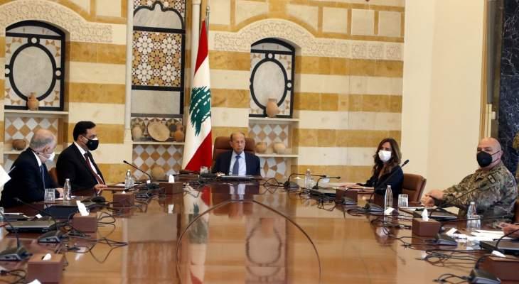 الرئيس عون: أركز على أهمية حصول التدقيق الجنائي ليتمكن المواطنون من استرداد حقوقهم