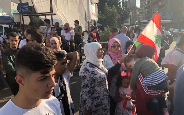 مسيرة احتجاجية انطلقت من خيمة الحراك في كفر رمان وصلت الى محيط سراي النبطية
