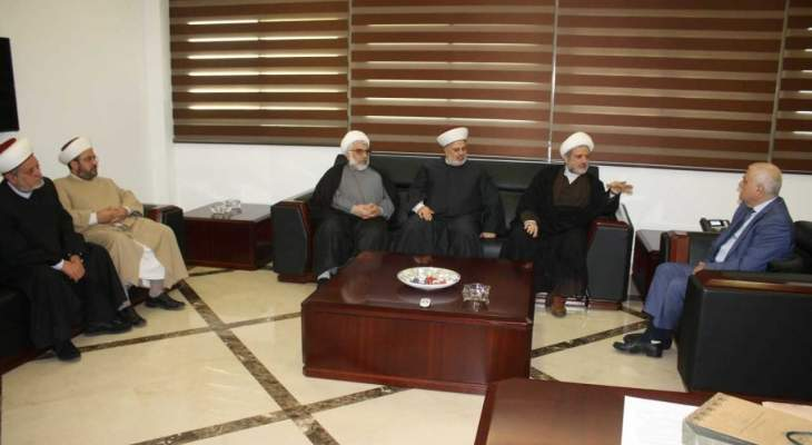 جبق استقبل وفدًا من تجمع العلماء المسلمين مستعد لمعالجة أي شكوى محقة