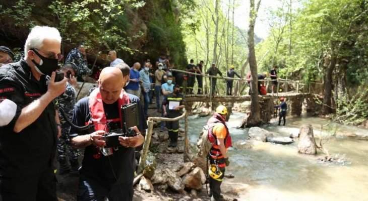خطار تفقد عمليات البحث المستمرة عن هادي الحكيم في مجرى نهر الجوز