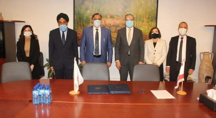 الجامعة اللبنانية وقعت اتفاقية تعاون مع جامعة دلهي بحضور السفير الهندي في بيروت