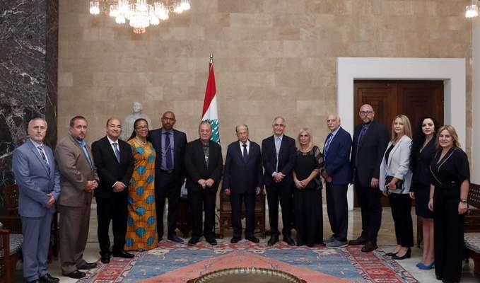الرئيس عون: مساحة لبنان تمثل اليوم مساحة العالم بوجود ابنائه في بلاد الانتشار