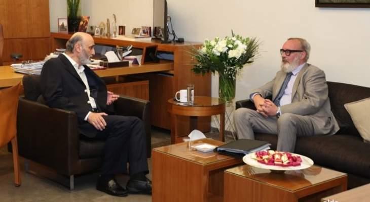 جعجع عرض مع سفير بلجيكا في لبنان لآخر التطورات السياسية وملف النازحين