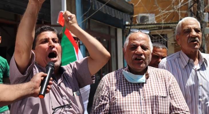 وقف حاشدة بمخيم برج الشَّمالي رفضاً لقرار الضم الإسرائيلي