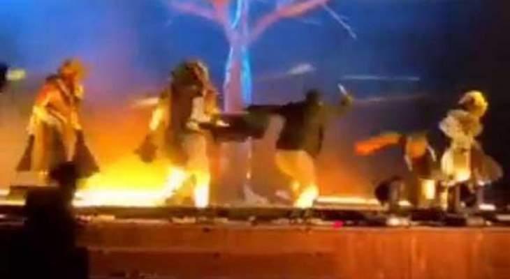المسرحيون الذين اصيبوا بجروح في هجوم الرياض من اسبانيا
