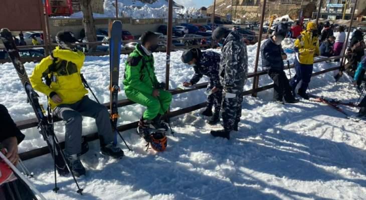قوى الأمن: تنظيم محاضر ضبط في كفرذبيان بحق شركة سياحية مخالفة وعدد من روّاد التزلج