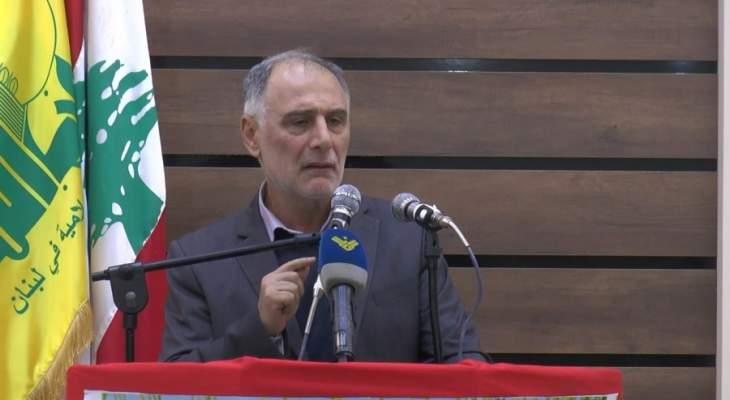 فنيش: لا يمكن لاسرائيل أن تهدد أمننا من دون ان تشعر بأن أمنها مهدد