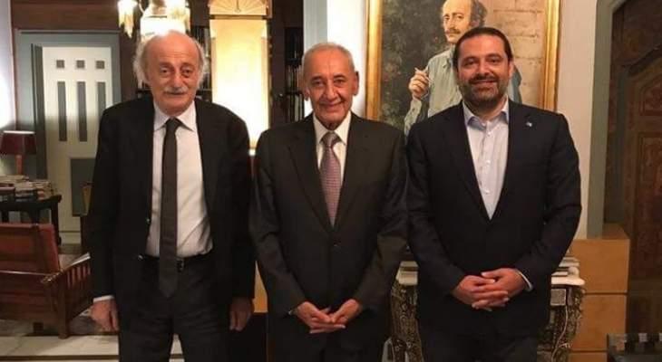 الشرق الاوسط: بري ينصح جنبلاط والحريري باستئناف التواصل