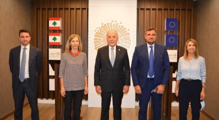 سفيرة إيطاليا زارت غرفة طرابلس: سنعمل معا على وضع اقتراحات لبرنامج عمل مشترك