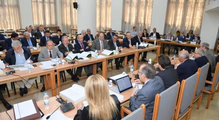 لجنة المال أقرت اعتمادات وزارات الشباب والرياضة والمهجرين والبيئة والثقافة