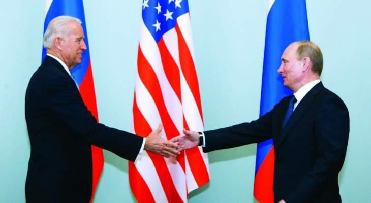 بايدن بحث مع بوتين هاتفيا بفرص التعاون في مكافحة جائحة كورونا