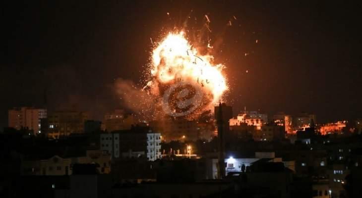 الميادين: غارات إسرائيلية على موقع شرقي مدينة دير البلح في قطاع غزة