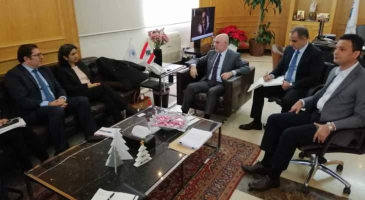 فنيانوس التقى وفد البنك الدولي ووفد كوريا الجنوبية والنائب هاشم