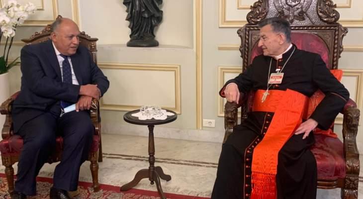 الراعي استقبل شكري: توافق على الاسراع بتشكيل حكومة إصلاحات افساحا لدعم اقليمي ودولي
