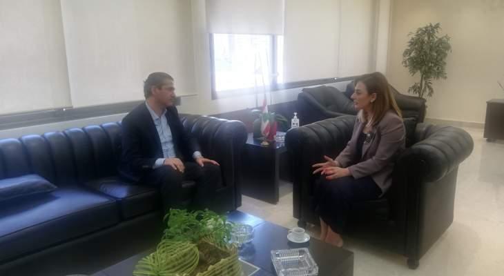 أوهانيان بحثت مع أبو جودة كيفية تنمية العمل الشبابي والرياضي في محافظة البقاع