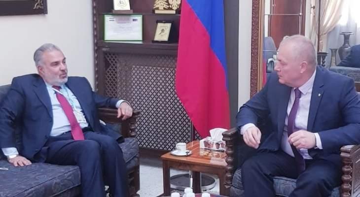 """السفير الروسي التقى عميد الخارجية بـ""""القومي"""": نحرص على الوقوف إلى جانب القضايا العادلة والمحقة"""