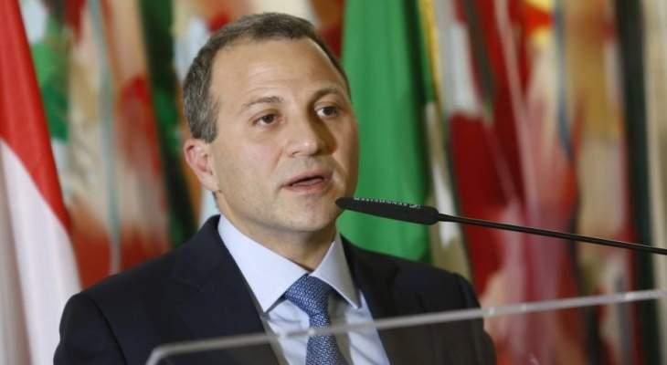 باسيل: قضيتنا مع الكهرباء هي قضية حياة أو موت للبنان