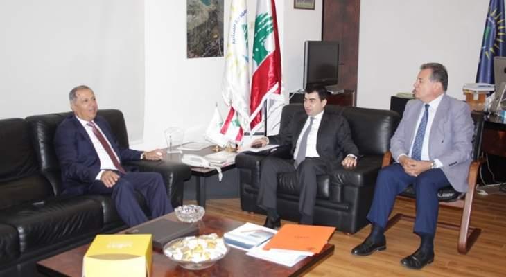 ابي خليل التقى طرابلسي ومدير المصلحة الوطنية لنهر الليطاني