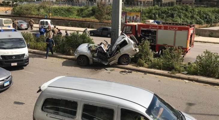 النشرة: جريح بحادث سير على أوتستراد إميل لحود