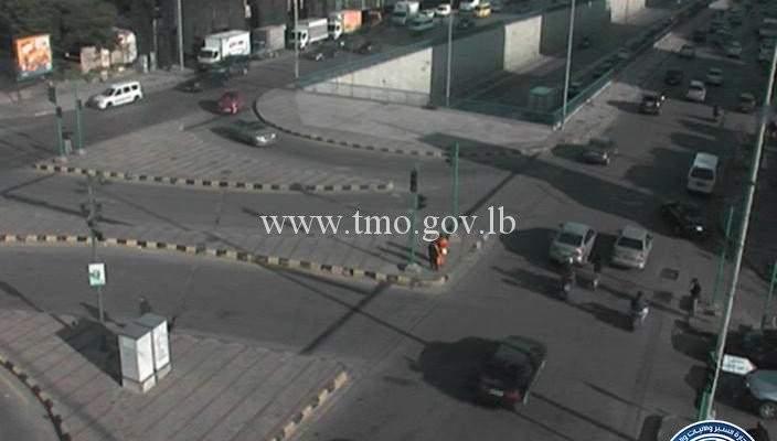 حركة المرور كثيفة من المدينة الرياضية باتجاه الكولا وصولاً لسليم سلام