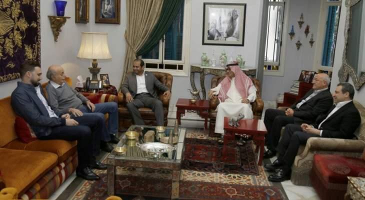 جنبلاط عرض مع الشامسي وبخاري الاوضاع في لبنان والمنطقة