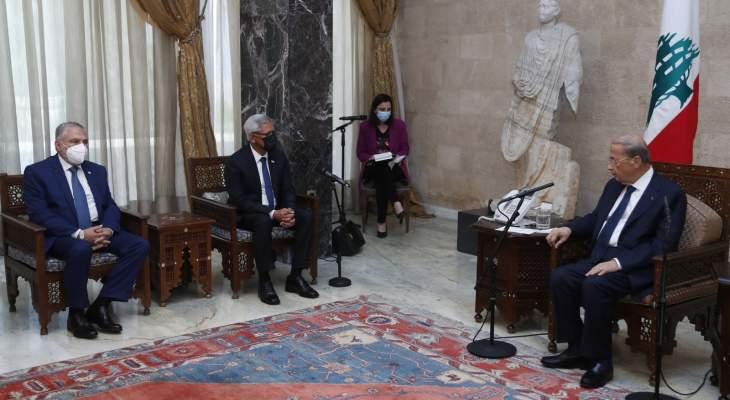 الرئيس عون للأمين العام للاتحاد الدولي للصليب والهلال الاحمر: لدعم لبنان في مطالبته بإعادة النازحين
