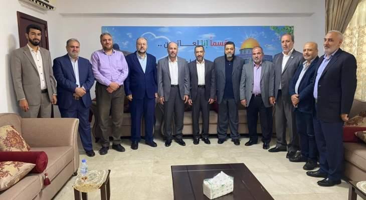 وفد من الجماعة الاسلامية زار وفدا من حماس: لحشد كل الامكانات لتعزيز صمود شعبنا