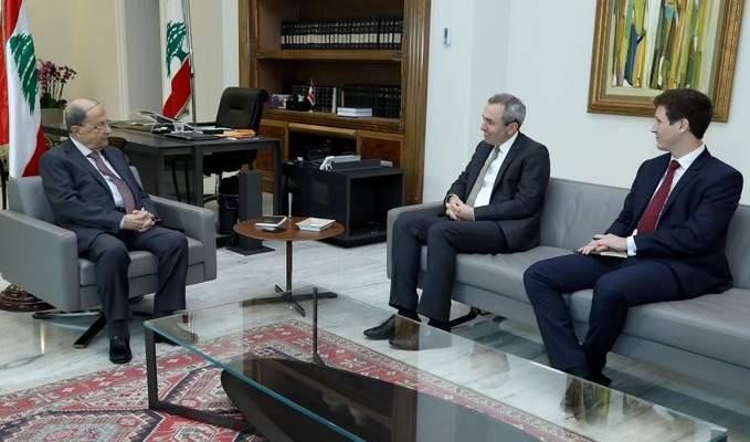 الرئيس عون أجرى مع رامبلينغ جولة أفق تناولت التطورات الراهنة والعلاقات اللبنانية- البريطانية