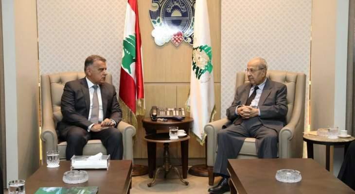اللواء ابراهيم يستقبل رابطة قدماء القوى المسلحة اللبنانية