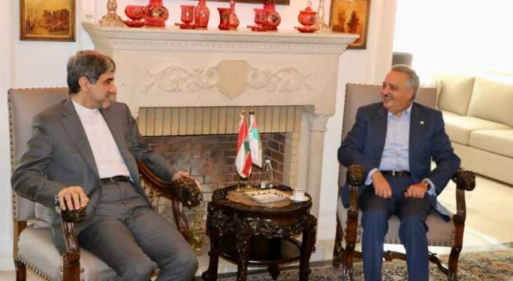 أرسلان: نقدر دور إيران المنفتح على الجميع ضمن أطر الثوابت الوطنية