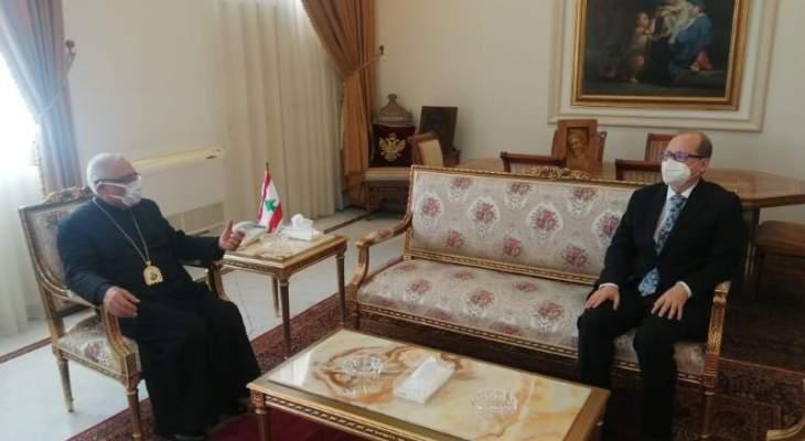 سفير النمسا زار العبسي: المجتمع الدولي مستعد لمساعدة لبنان عندما تصبح الظروف مؤاتية