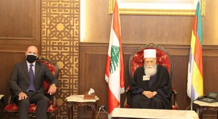 شيخ العقل بحث مع سفير الارجنتين العلاقات بين البلدين