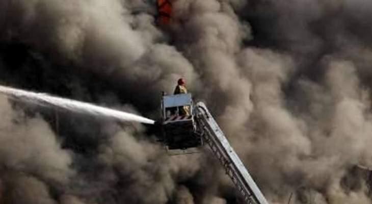 """حريق كبير عند مدخل المدينة التي تضم محطة """"بوشهر"""" النووية بإيران"""