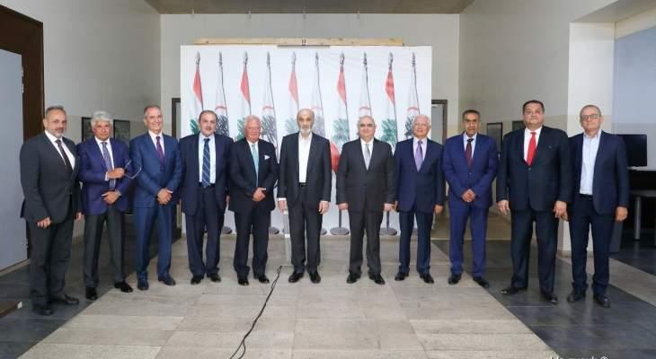 جعجع استقبل وفدا من مجلس العمل والاستثمار اللبناني في السعودية