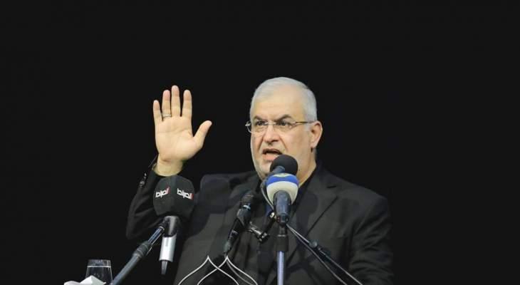 رعد: لن نسمح لإسرائيل أن تستبيح أرضنا ولا حتى سماءنا