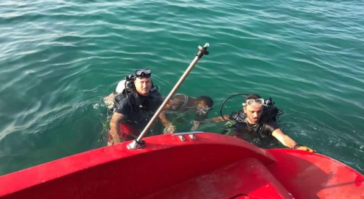 وحدة الانقاذ البحري تبحث عن شخص فقد مقابل شاطئ السعديات