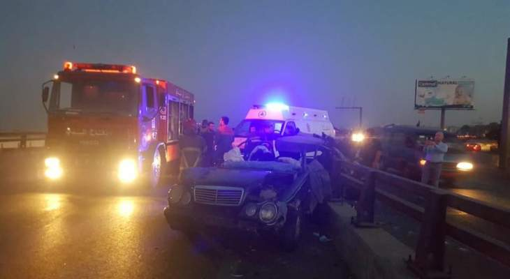 جريح اثر حادث مروري على طريق المطار