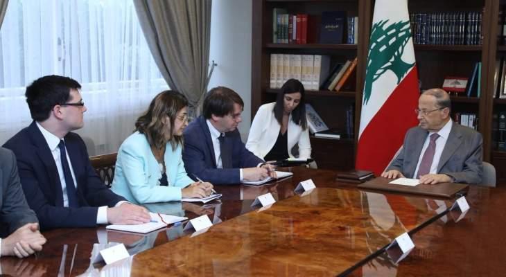 عون بحث مع جارفيس مرحلة ما بعد إقرار موازنة 2019 والاصلاحات المحفزة للنمو
